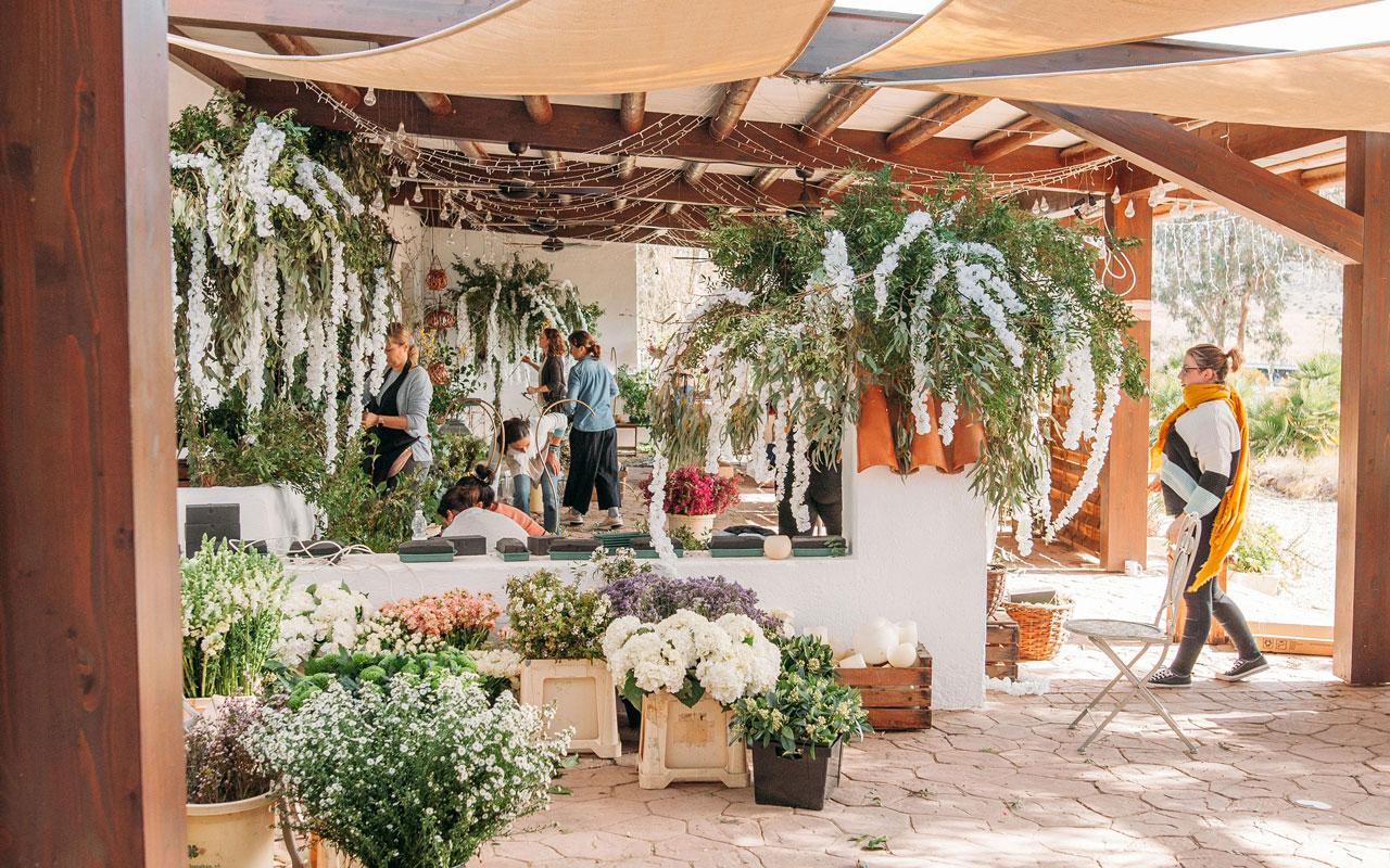 la fabrica workshop curso floristeria